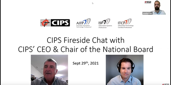 CIPS Webcast: Fireside Chat with CIPS' CEO and Chair of the National Board (Members-Only)